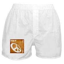 Orange Peace Boxer Shorts