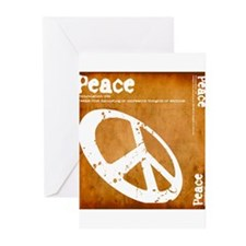 Orange Peace Greeting Cards (Pk of 10)