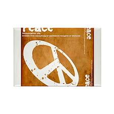 Orange Peace Rectangle Magnet