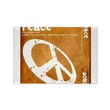 Orange Peace Rectangle Magnet (10 pack)