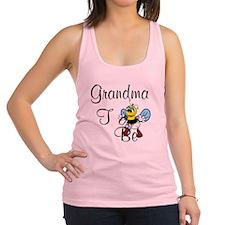 Playful Grandma To Bee Racerback Tank Top