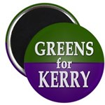 Greens for Kerry Magnet