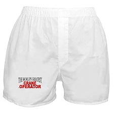 """The World's Greatest Crane Operator"" Boxer Shorts"