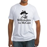 Millionaires for McCain Fitted T-Shirt
