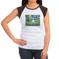 Bridge-BullTerrier (P) Women's Cap Sleeve T-Shirt