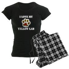 I Love My Yellow Lab Pajamas