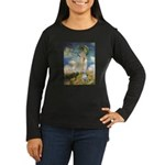 Umbrella & Bull Terrier Women's Long Sleeve Dark T