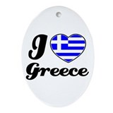 Greece Oval Ornament