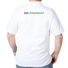 Insurance Is Fun with fun slogan golf shirt