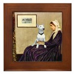 Mom's Bull Terrier (#1) Framed Tile