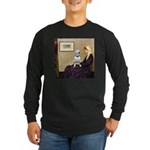 Mom's Bull Terrier (#1) Long Sleeve Dark T-Shirt