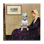 Mom's Bull Terrier (#1) Tile Coaster
