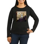 Mom's Bull Terrier (#1) Women's Long Sleeve Dark T