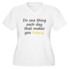 Happy Plus Size T-Shirt