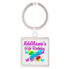 REJOICING 65TH Square Keychain
