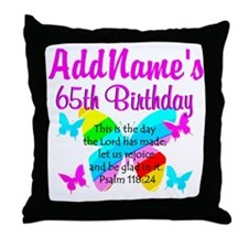 REJOICING 65TH Throw Pillow