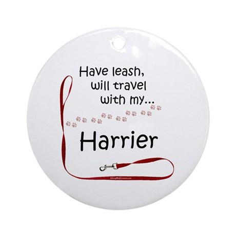 Harrier Travel Leash Ornament (Round)