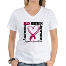 Brain Aneurysm Heart Ribbon T-Shirt