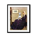 Mom's Bull Terrier (#1) Framed Panel Print