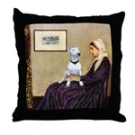 Mom's Bull Terrier (#1) Throw Pillow