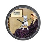 Mom's Bull Terrier (#1) Wall Clock
