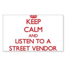 Keep Calm and Listen to a Street Vendor Decal