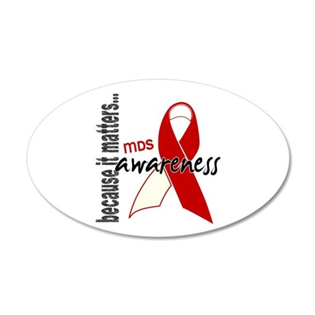 MDS Awareness 1 20x12 Oval Wall Decal