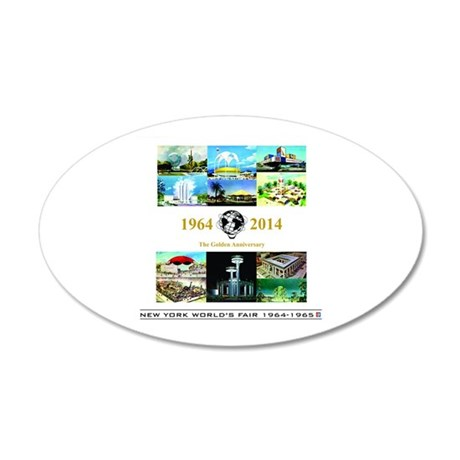 50th Anniversary Pavilions 35x21 Oval Wall Decal