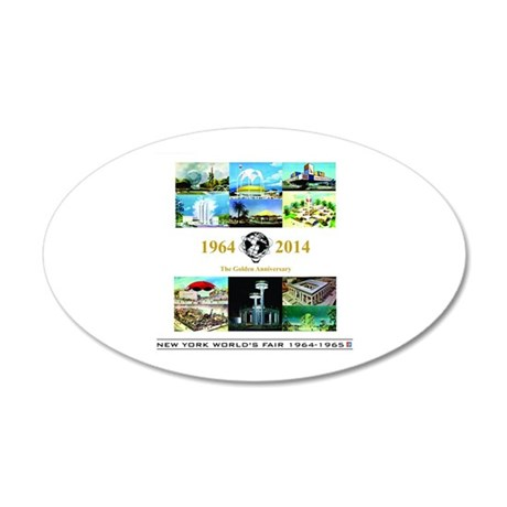 50th Anniversary Pavilions 20x12 Oval Wall Decal