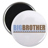 big brother brown/blue Magnet