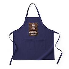 Keep Calm Organic Bacon Apron (dark)