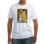 The Kiss & Bull Terrier Fitted T-Shirt