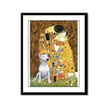 The Kiss & Bull Terrier Framed Panel Print