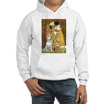 The Kiss & Bull Terrier Hooded Sweatshirt