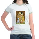 The Kiss & Bull Terrier Jr. Ringer T-Shirt
