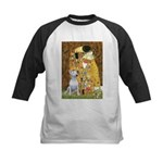 The Kiss & Bull Terrier Kids Baseball Jersey