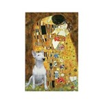 The Kiss & Bull Terrier Rectangle Magnet