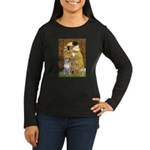 The Kiss & Bull Terrier Women's Long Sleeve Dark T
