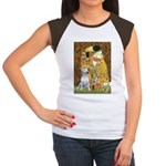 The Kiss & Bull Terrier Women's Cap Sleeve T-Shirt