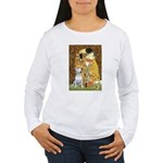 The Kiss & Bull Terrier Women's Long Sleeve T-Shir