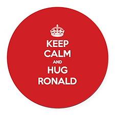 Hug Ronald Round Car Magnet