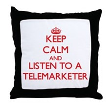 Keep Calm and Listen to a Telemarketer Throw Pillo