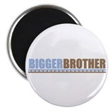 bigger brother brown blue Magnet