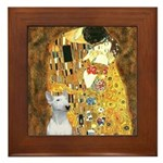 The Kiss & Bull Terrier Framed Tile