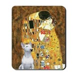The Kiss & Bull Terrier Mousepad