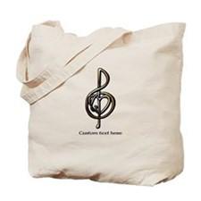 Customize this Metallic Musical Treble Clef Tote B