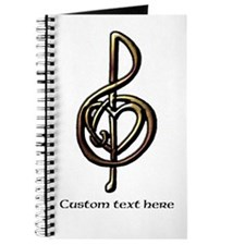 Customize this Metallic Musical Treble Clef Journa