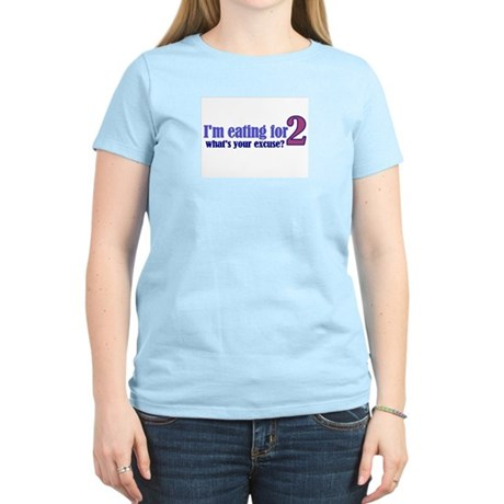Eating For 2 Women's Light T-Shirt