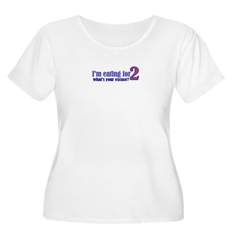 Eating For 2 Women's Plus Size Scoop Neck T-Shirt