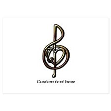 Customize this Metallic Musical Treble Clef Invita